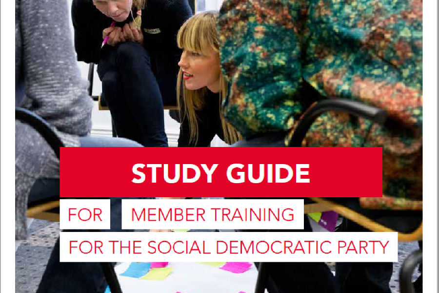 Front page from the Study guide of the Social Democrats member education
